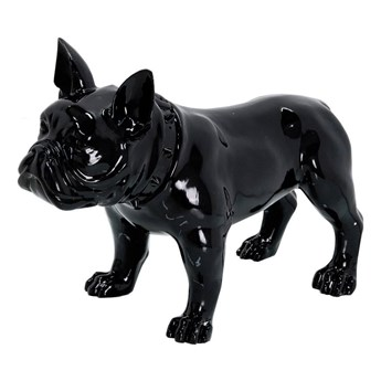 Czarna figura buldog 64x54x29 cm A216