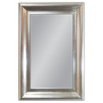 Srebrne lustro w drewnianej oprawie 80x120 cm GP2399