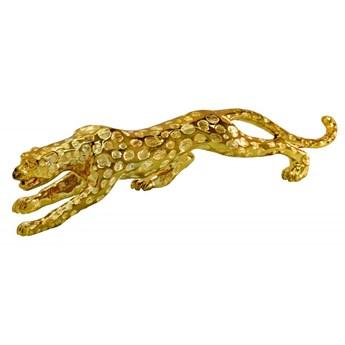 Drapieżna złota figura geparda 75x15x21 cm 1012