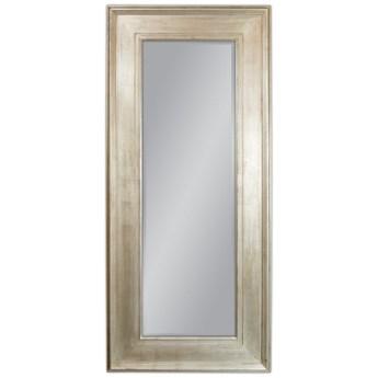 Lustro w drewnianej srebrnej oprawie 80x180 2231