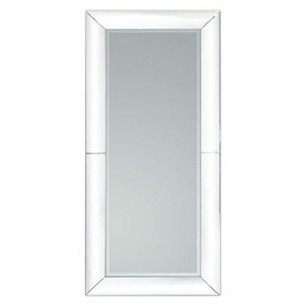 Duże lustro w giętej białej ramie 80x180 cm 15JZ191