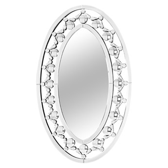Owalne lustro w ramie z kryształków 58x92 cm JS29