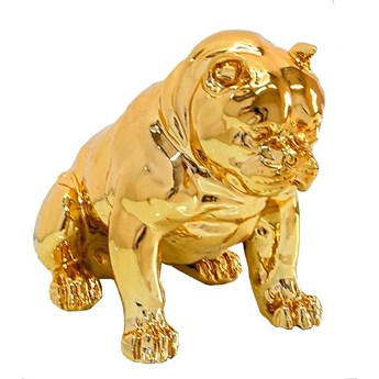 Złota figura pies 51x42x30 cm A259