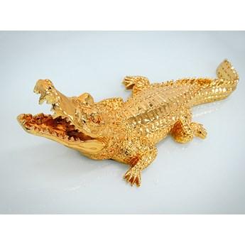 Złota figura krokodyl 87x30x22 cm 2053