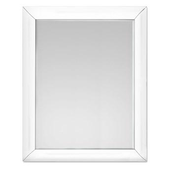 Lustro w giętej białej ramie 80x100 cm 15JZ191