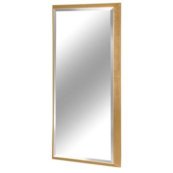 Nowoczesne fazowane lustro w złotej ramie 80x180 cm 12F-390
