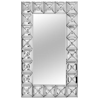 Lustro w lustrzanej ramie wykonanej z giętych elementów 75x121 cm JS72