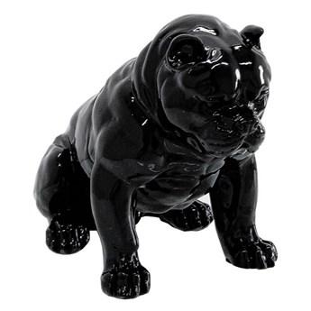 Czarna figura pies 51x42x30 cm A259