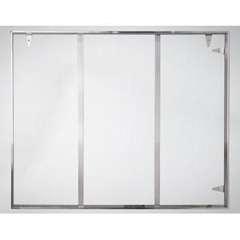 Srebrna oprawa obrazu wykonana z polerowanej stali nierdzewnej 161x226 cm TH17