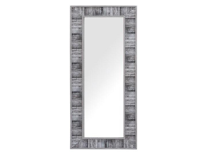 Beliani Lustro ścienne wiszące szare 50 x 130 cm Lustro z ramą Kategoria Lustra Prostokątne Pomieszczenie Salon