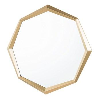 Beliani Lustro ścienne wiszące złote geometryczne ośmiokąt 71 cm
