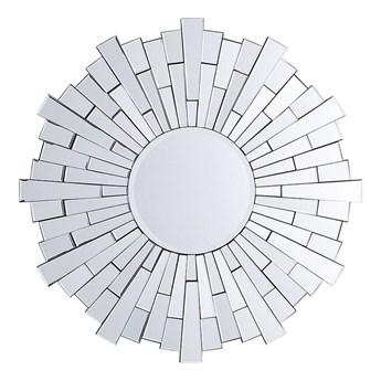 Beliani Lustro wiszące ścienne srebrne okrągłe 70 cm salon sypialnia