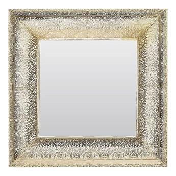 Beliani Lustro ścienne wiszące złote 60 x 60 cm vintage retro salon sypialnia łazienka