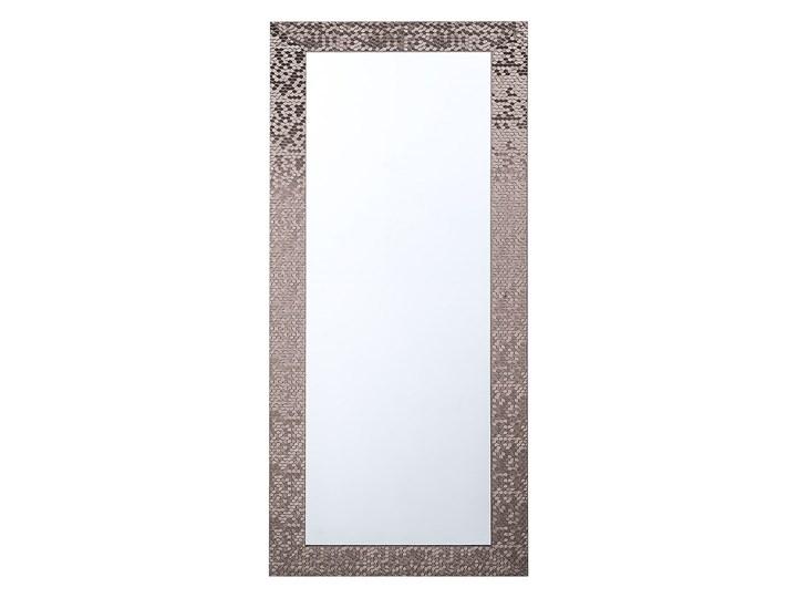 Beliani Lustro ścienne wiszące brązowe dekoracyjne 50 x 130 cm Prostokątne Lustro z ramą Kolor Srebrny