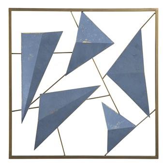 Beliani Dekoracja ścienna złoto-niebieska geometryczna 3D ozdobna styl nowoczesny marinistyczny