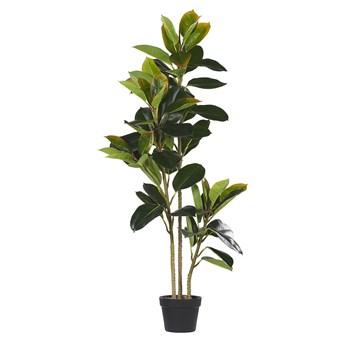 Beliani Sztuczna roślina doniczkowa materiał syntetyczny 134 cm fikus dekoracja do wnętrz