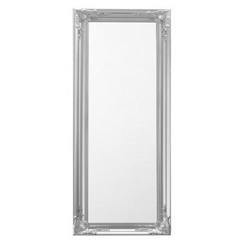 Beliani Lustro ścienne wiszące srebrne 51 x 141 cm ozdobna rama salon sypialnia styl klasyczny francuski