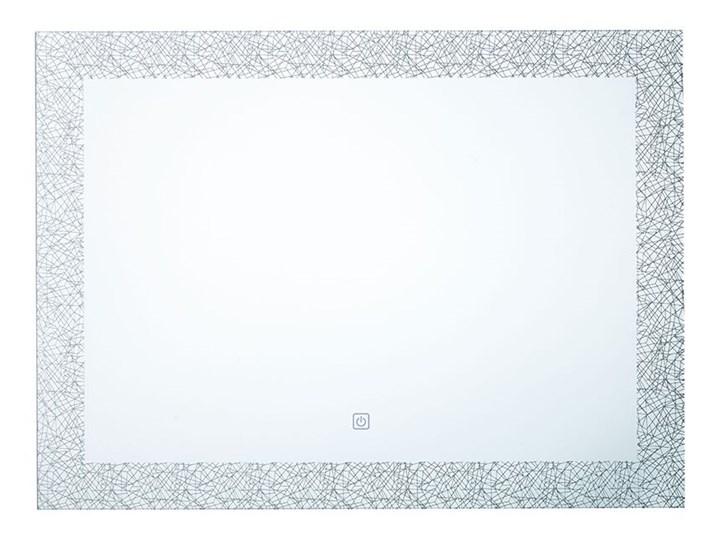 Beliani Lustro łazienkowe wiszące 60 x 80 cm światło LED nieparujące dotykowy przycisk dekoracyjne Prostokątne Lustro z ramą Kategoria Lustra