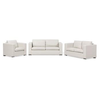 Beliani Zestaw wypoczynkowy 3 + 2 + 1 beżowy dwoina minimalistyczny prosty salon duży pokój