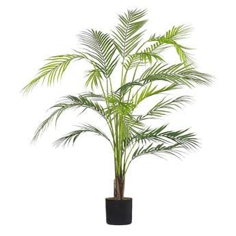 Beliani Sztuczna roślina doniczkowa materiał syntetyczny 124 cm palma areka dekoracja do wnętrz