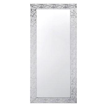Beliani Lustro ścienne wiszące srebrne dekoracyjne 50 x 130 cm