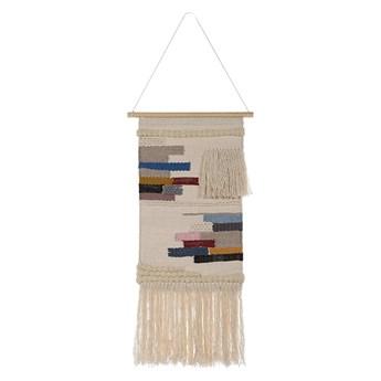 Beliani Dekoracja wisząca beżowa z bawełny i wełny na ścianę orientalny styl boho