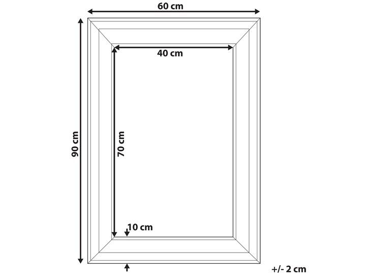 Beliani Lustro ścienne wiszące białe 60 x 90 cm prosta rama styl skandynawski minimalistyczny Prostokątne Lustro z ramą Pomieszczenie Garderoba Pomieszczenie Sypialnia