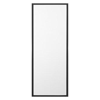 Beliani Lustro stojące czarne 40 x 140 cm salon sypialnia