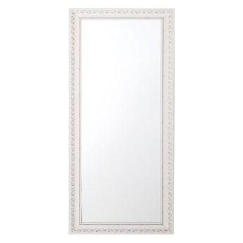 Beliani Lustro ścienne wiszące biało-srebrne 50 x 130 cm łazienka przedpokój