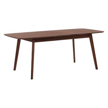 Beliani Stół do jadalni ciemne drewno rozkładany 150 - 120 x 75 cm prostokątny styl retro