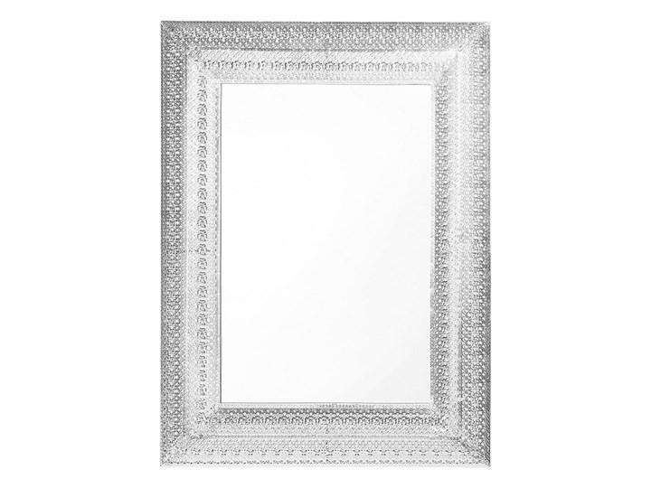 Beliani Lustro ścienne wiszące srebrne 70 x 90 cm prostokątne vintage retro sypialnia salon łazienka Lustro z ramą Kolor Srebrny Kategoria Lustra