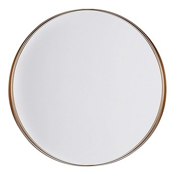 Beliani Lustro ścienne wiszące kolor miedzi 40 cm salon sypialnia