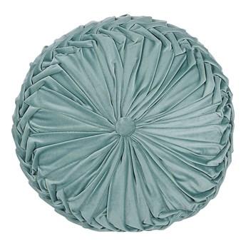 Beliani Poduszka dekoracyjna zielona plisowana okrągła 40 cm z wypełnieniem ozdobna akcesorium salon sypialnia