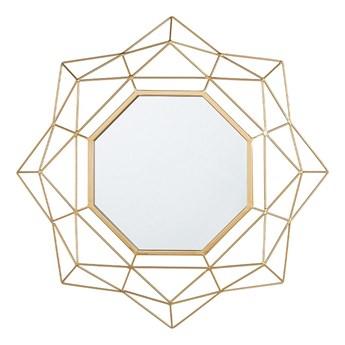 Beliani Lustro ścienne wiszące złote geometryczne 60 cm vintage Gatsby glamour