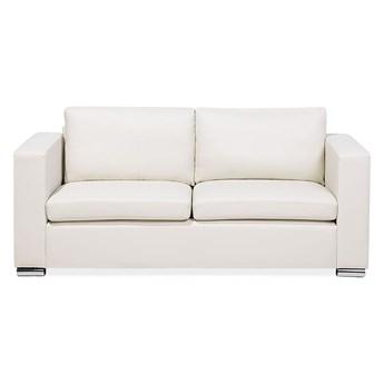 Beliani Sofa trzyosobowa beżowa dwoina minimalistyczna prosta salon duży pokój