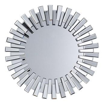 Beliani Lustro srebrne okrągłe słońce kształt nowoczesne salon przedpokój