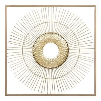 Beliani Dekoracja ścienna złota słońce metalowa ozdoba styl glam