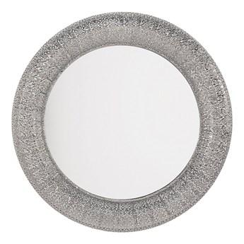 Beliani Lustro wiszące ścienne srebrne 80 cm