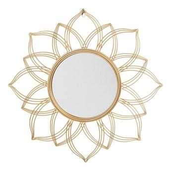 Beliani Lustro ścienne wiszące złote 67 cm kwiat płatki mandala nowoczesne vintage glamour