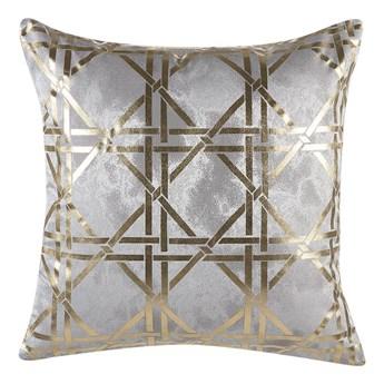 Beliani Poduszka dekoracyjna szara wzór geometryczny romby 45 x 45 cm z wypełnieniem ozdobna akcesoria salon sypialnia