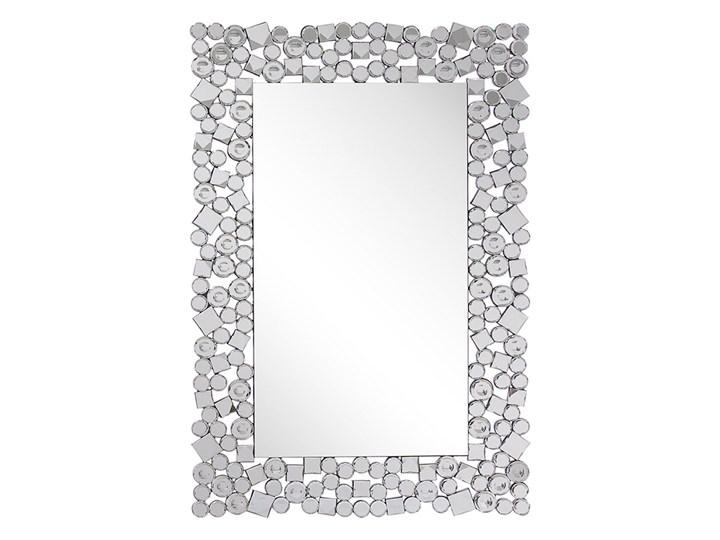Beliani Lustro ścienne srebrne 60 x 90 cm prostokątne wiszące dekoracyjna rama styl glamour