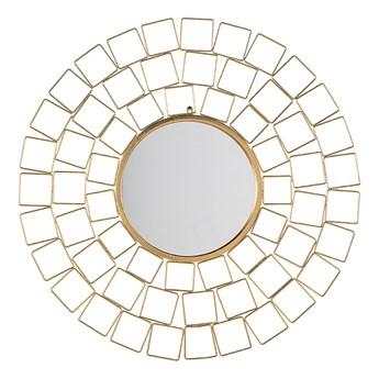 Beliani Lustro wiszące ścienne złote 90 x 90 cm geometryczna rama