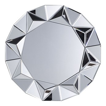 Beliani Lustro wiszące ścienne srebrne okrągłe 70 cm ozdobne