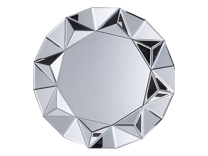 Beliani Lustro wiszące ścienne srebrne okrągłe 70 cm ozdobne Lustro bez ramy Kategoria Lustra