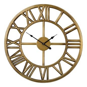Beliani Zegar ścienny złoty żelazny rzymskie cyfry Ø 61 cm nowoczesny design