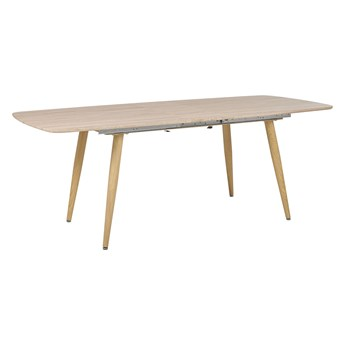 Beliani Stół do jadalni jasne drewno MDF rozkładany blat 180/210x90 cm styl minimalistyczny