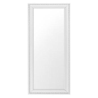 Beliani Lustro ścienne wiszące białe 50 x 130 cm