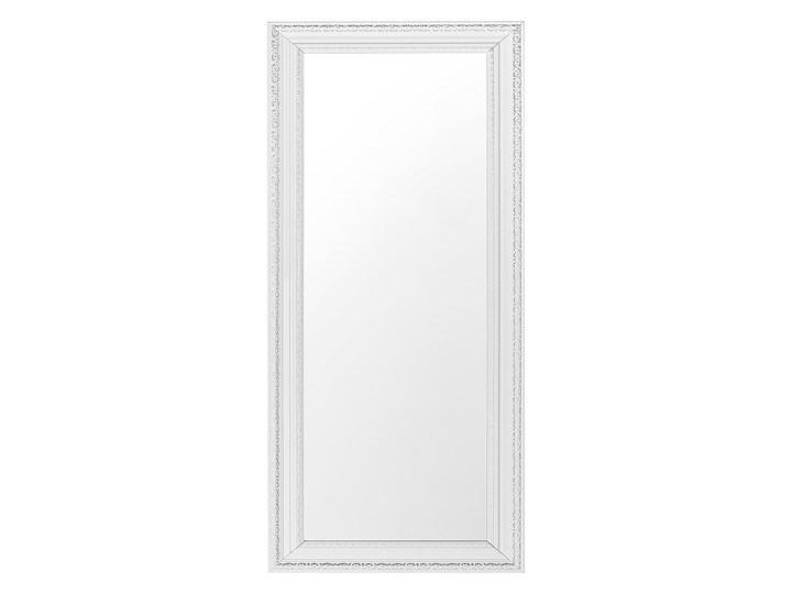 Beliani Lustro ścienne wiszące białe 50 x 130 cm Lustro z ramą Prostokątne Pomieszczenie Salon