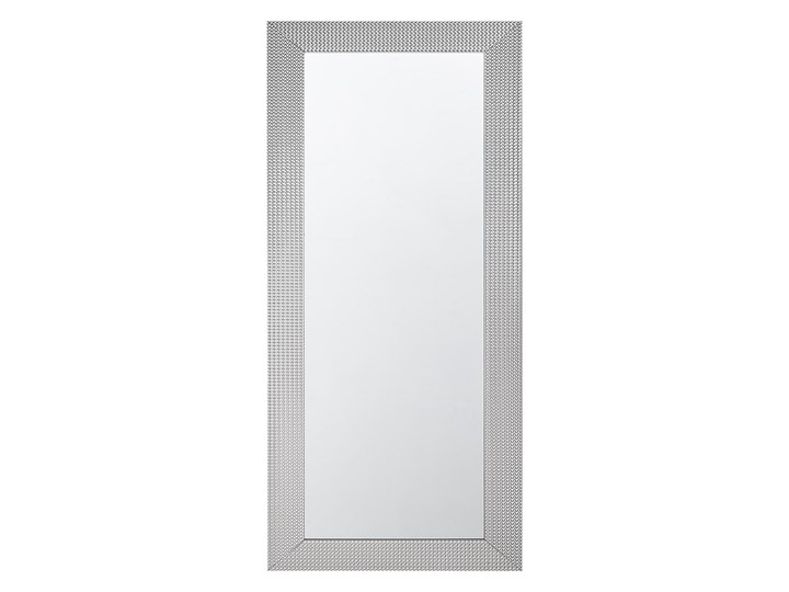 Beliani Lustro ścienne wiszące srebrne 50 x 130 cm sypialnia przedpokój