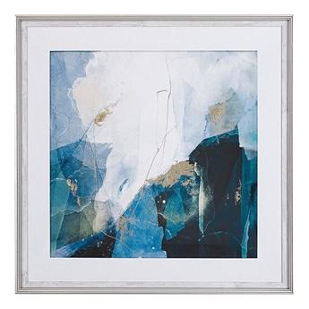 Beliani Obraz w ramie niebieski wydruk na papierze 60 x 60 cm abstrakcja dekoracja ścienna
